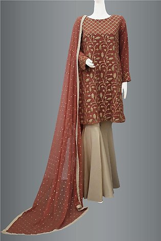 Peplum With Gharara Pant By Kehkashan Collection