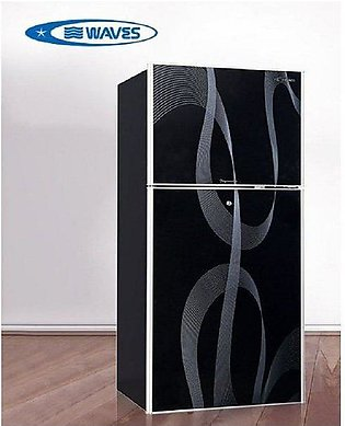 Waves WR-3140 Black Body Impressive Glass Door Refrigerator