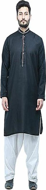 Marhaba Mart Black Cotton Kurta For Men