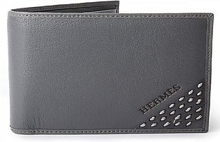 HERMES Genuine Leather Wallet - Light Grey By Fasilite
