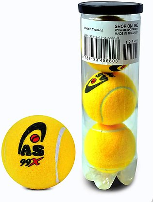 AS SPORTS 99X - Tennis Cricket Ball - Pack of 3 - Yellow
