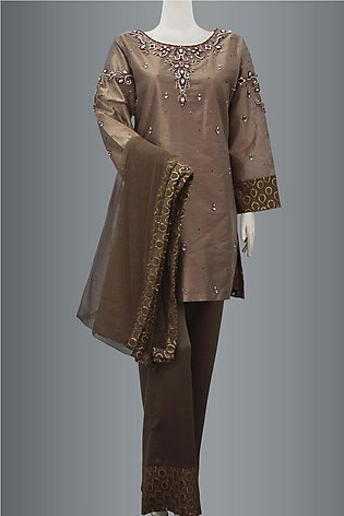 Shirt With Bell Bottom Trouser and Dupatta By KEHKASHAN COLLECTION