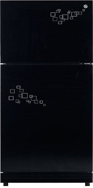 PEL PRGD - 120 M - Glass Door Mirror Series Refrigerator - 230 Liters - Black