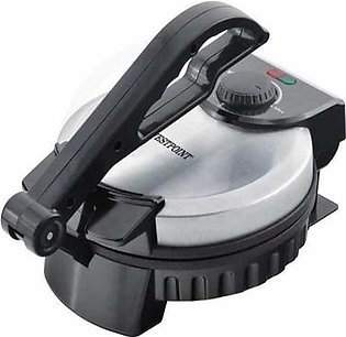 Deluxe Roti Maker With Timer Silver & Black