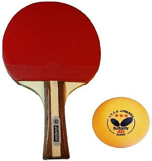 Champion Table Tennis Racket with Free Ball - Premium Quality