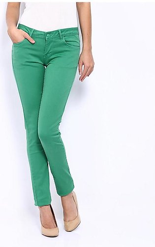 Women's Green Denim Jeans SA-J8
