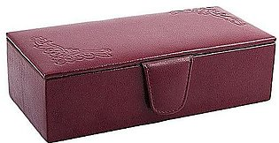 House of Leather Maroon Cow Leather Jewellery Box - J-10M