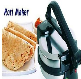 "Deluxe Roti Maker 8"" Inch With Timer My Stainless Steel Non-Stick Electric Tortilla Maker Chapati Maker (Wf-6512)"