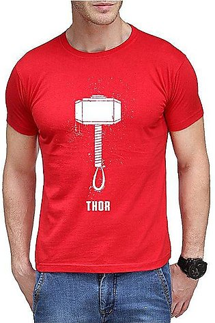 The Ajmery Red Hammer Of Thor Printed T-shirt For Men