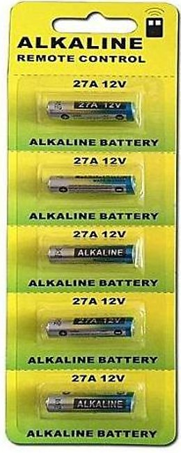 Tool Shop 5 Piece Wama 27A 12V Alkaline Battery Cells 27Ae 27Mn Primary Dry B...