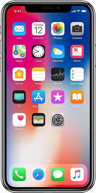 Apple iPhone X (4G, 64GB, Silver) Without Facetime With 1 Year Official Warranty