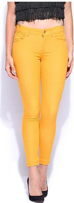 Women's Yellow Denim Jeans SA-J14