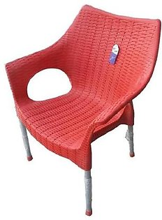Pack Of 1-2-3-4 Plastic Chairs Indoor-Outdoor Rattan Style