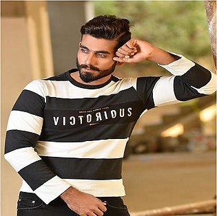 Red Tree BLACK & WHITE STRIPE VICTORIOUS T-Shirt