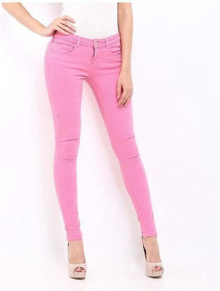 Women's Pink Denim Jeans SA-J11
