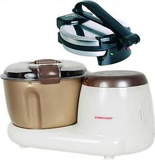 WF-3614 - Deluxe Dough Maker - with - WF-6513 - Deluxe Roti Maker - 8""
