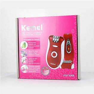 Kemei 3 in 1 Epilator and Shaver for Women KM-3068 Red