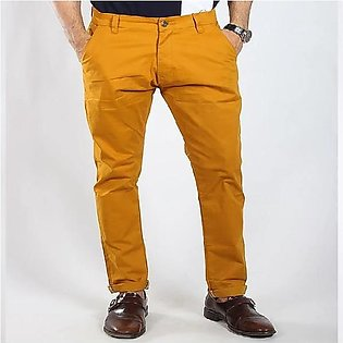 Red Tree Mustard Chino Pant for Men