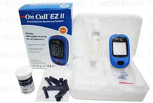 On Call Ez II Blood Glucose Monitoring System Kit 1's