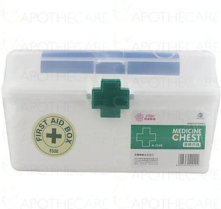 First Aid Box Empty Large 1's Model F-500 (Green & White)