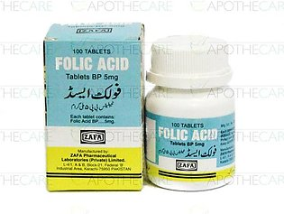 Folic Acid Tab 5mg 100's (Zafa)