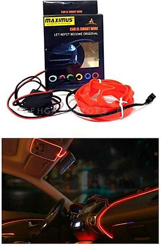 Maximus EL Glow Wire for Interior  / Dashboard LED Light 2Meters (6ft) - Red