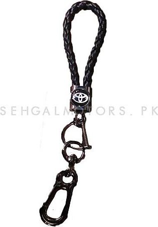 Toyota Premium Leather Rosary Key Chain / Key Ring