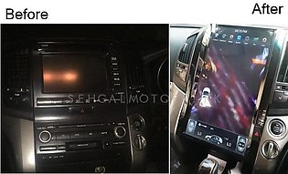 Toyota Land Cruiser AX LCD Multimedia System Tesla Style IPS Display 16 Inche...