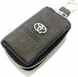 Toyota Zipper Leather Key Chain / Key Ring Pouch