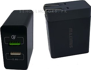 Maximus 2 Usb 5.4A Power Port Smart Wall Mobile Charger
