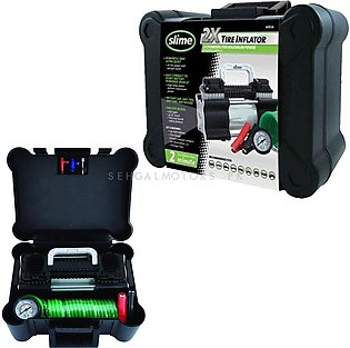 Slime Double Cylinder Heavy Duty Direct Drive Tyre Inflator