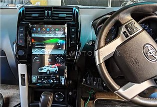 Toyota Prado Tesla Style IPS Display LCD Multimedia System Android 13.6 Inche...