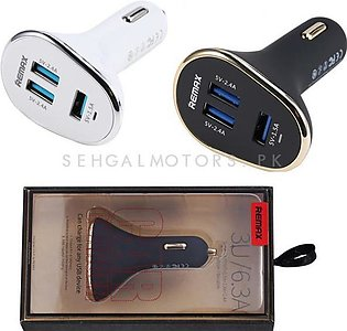 Remax 3 Port USB Car Mobile Charger - 4.2A