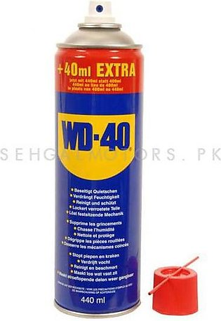 WD40 Anti-Rust Lubricant , Penetrating Oil and water-displacing spray - 440ml
