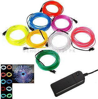 Maximus RGB EL Glow Wire with Remote for Interior  / Dashboard LED Light  - 7...