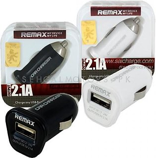 Remax USB Car Mobile Charger 1 Port White - 2.1A
