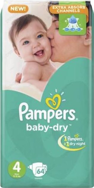 PAMPERS BABY DRY 4 64 DIAPERS