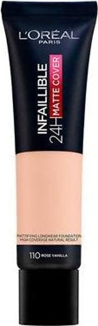 LOREAL INFAILLIBLE 24HR MATTE COVER FOUNDATION 110 VANILLA ROSE 30ML