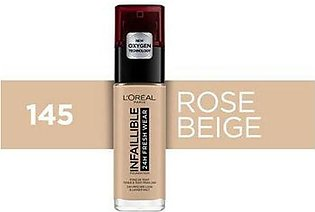 LOREAL INFAILLIBLE FOUNDATION 145 BEIGE ROSE 30ML