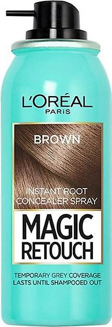 Magic Retouch Root Touch Up Hair Color Spray - Brown 75ml