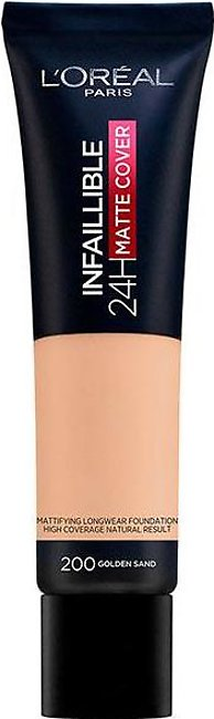 Infallible 24 Hour Matte Cover Foundation - 200 Golden Sand