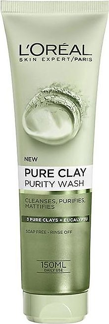 Pure Clay Eucalyptus Purifying Face Wash - Green 150ml