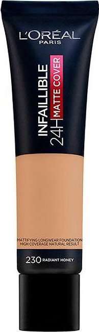 Infallible 24 Hour Matte Cover Foundation - 230 Radiant Honey