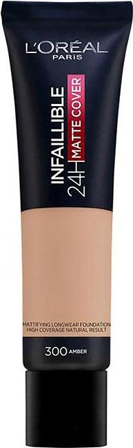 Infallible 24 Hour Matte Cover Foundation - 300 Amber