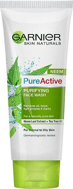 Skin Naturals Pure Active Neem Purifying Face Wash 100ml