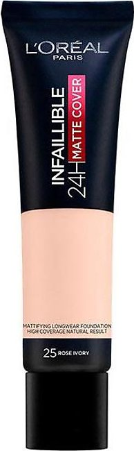 Infallible 24 Hour Matte Cover Foundation - 25 Rose Ivory