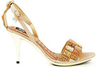 Sandal With Pearls Plus Embroidery On Top