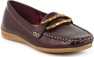 Stylish Moccasins With Buckle