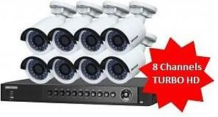 Hikvision 8 Turbo HD Cameras with Accessories
