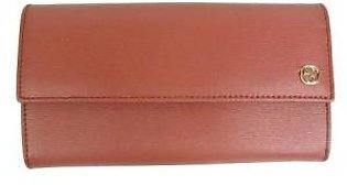 Gucci Women's Dust Pink Leather Continental Wallet